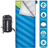 Fundango Saco de Dormir Ligero XL para Camping, Mochilero, Viaje con Saco de Compresión Cálido…
