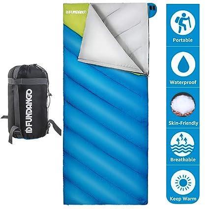 Fundango Saco de Dormir Extragrande y portátil para Camping con Clima frío, Senderismo, mochilero