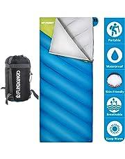 Fundango Saco de Dormir Ligero XL para Camping, Mochilero, Viaje con Saco de Compresión