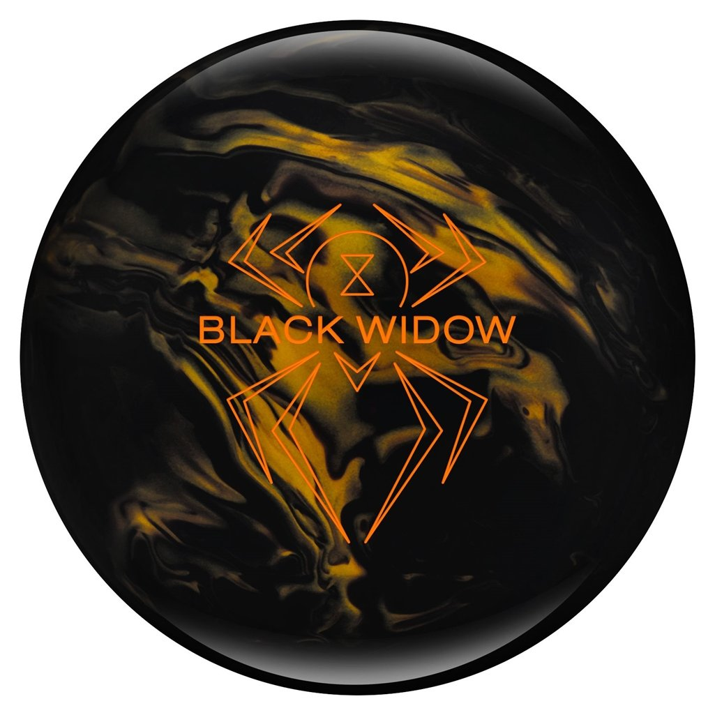 Hammer Bowling Products Black Widow Bowling Ball- Black/Gold, 16lbs by Hammer