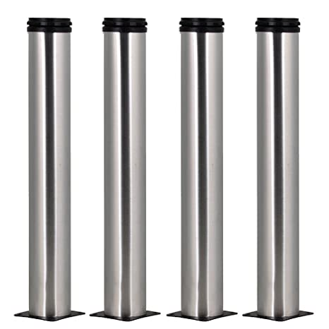 4pcs 350mm Height Adjustable Stainless Steel Furniture Legs Feet  Replacement Sofa Kitchen Cabinet Loveseat