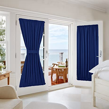 NICETOWN Blackout Door Curtain For Privacy   Enhancing Blackout Patio Door  / French Door Curtain Panel