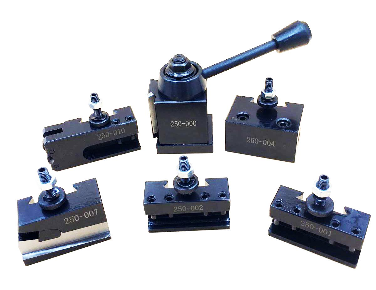 0XA Wedge Type Quick Change Tool Post Set For Mini Lathe 6-9'' SWING Steel Material