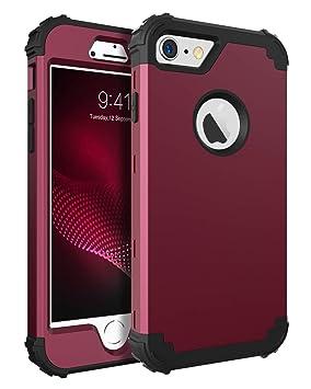 BENTOBEN Funda iPhone 6 Silicona, Funda iPhone 6s, 3 en 1 Carcasa Combinada PC Dura y Suave TPU Silicona Fuerte Resistente PC Bumper Antigolpes ...