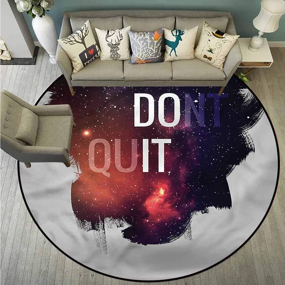 "Pet Rugs,Space,Dont Quit Motivational Quote,Anti-Slip Doormat Footpad Machine Washable,3'7"""