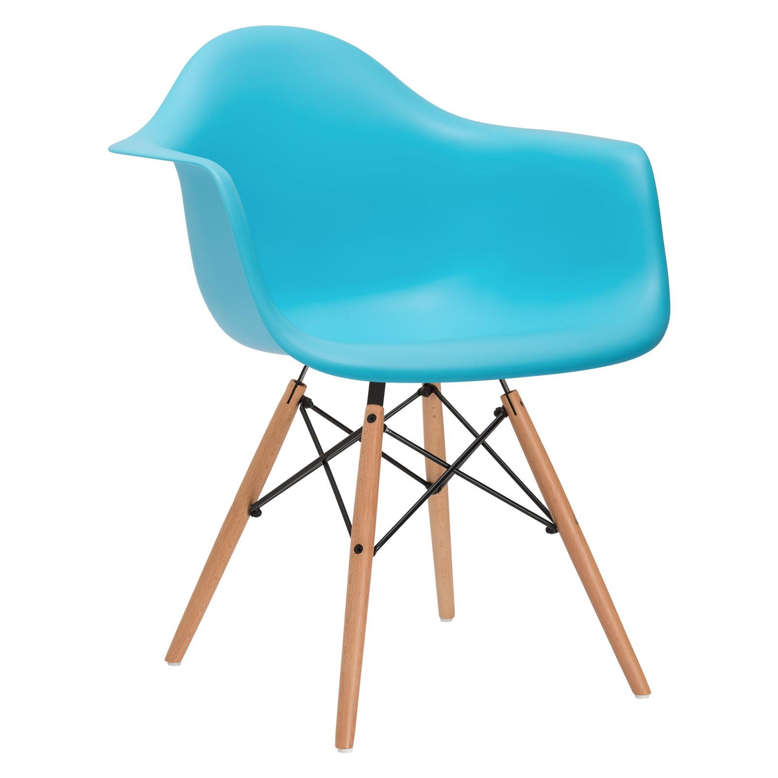 Poly and Bark Vortex Arm Chair, Aqua