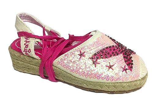 Allmarino - Alpargatas para niños, color rosa, talla 28