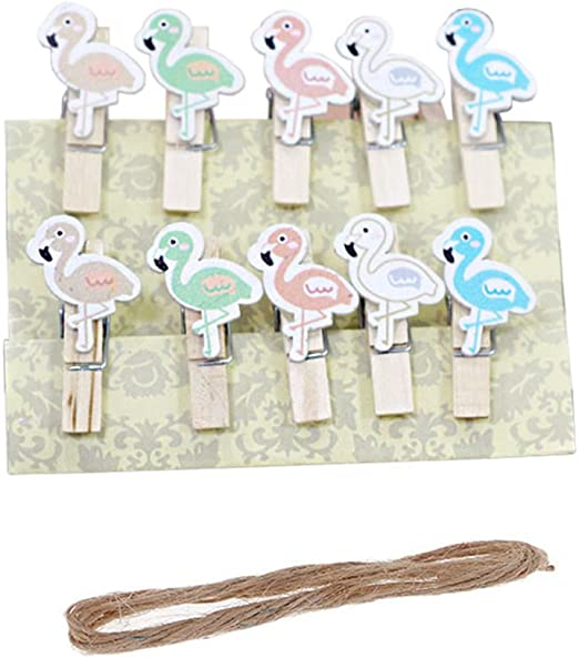 50 Pcs Mini Natural Wooden Wood Clothes Photo Paper Peg Clothespin Craft Clip YL