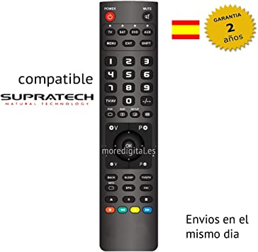 Mando a distancia Especifico para Television Tv Dvd SUPRATECH ...