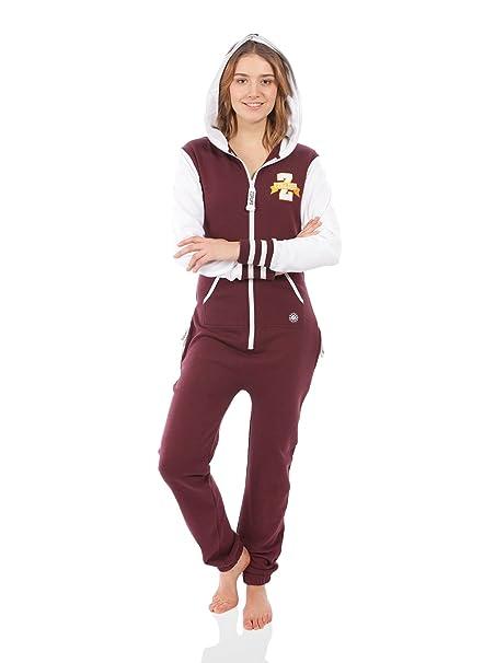 Zipups Mono-Pijama Team Spirit Burdeos/Blanco XL