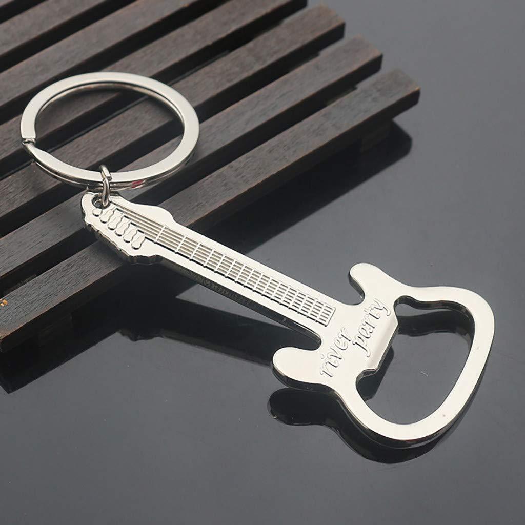 Gotian Pocket Small Metal Alloy Beer Bottle Opener Tool Guitar Keyring Keychain Gift, For Beer, Soft Drink Bottles, Easy To Carry.