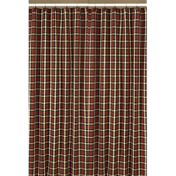 Amazon Com Shower Curtains Bear Lodge Shower Curtain Plaid