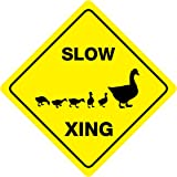 "SLOW DUCK CROSSING Animal Funny Novelty Xing Sign 12""x12"""