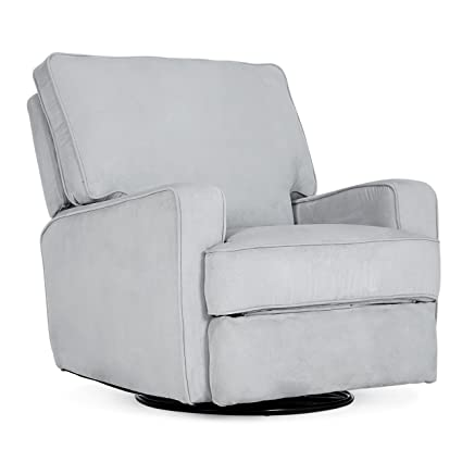 Great Belleze Recliner Chair Padded Armrest Backrest Living Room Swivel Reclining  Chairs Comfort Footrest Linen, Gray