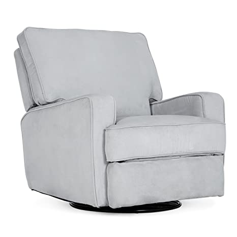 Superb Belleze Recliner Chair Padded Armrest Backrest Living Room Swivel Reclining Chairs Comfort Footrest Linen Gray Andrewgaddart Wooden Chair Designs For Living Room Andrewgaddartcom