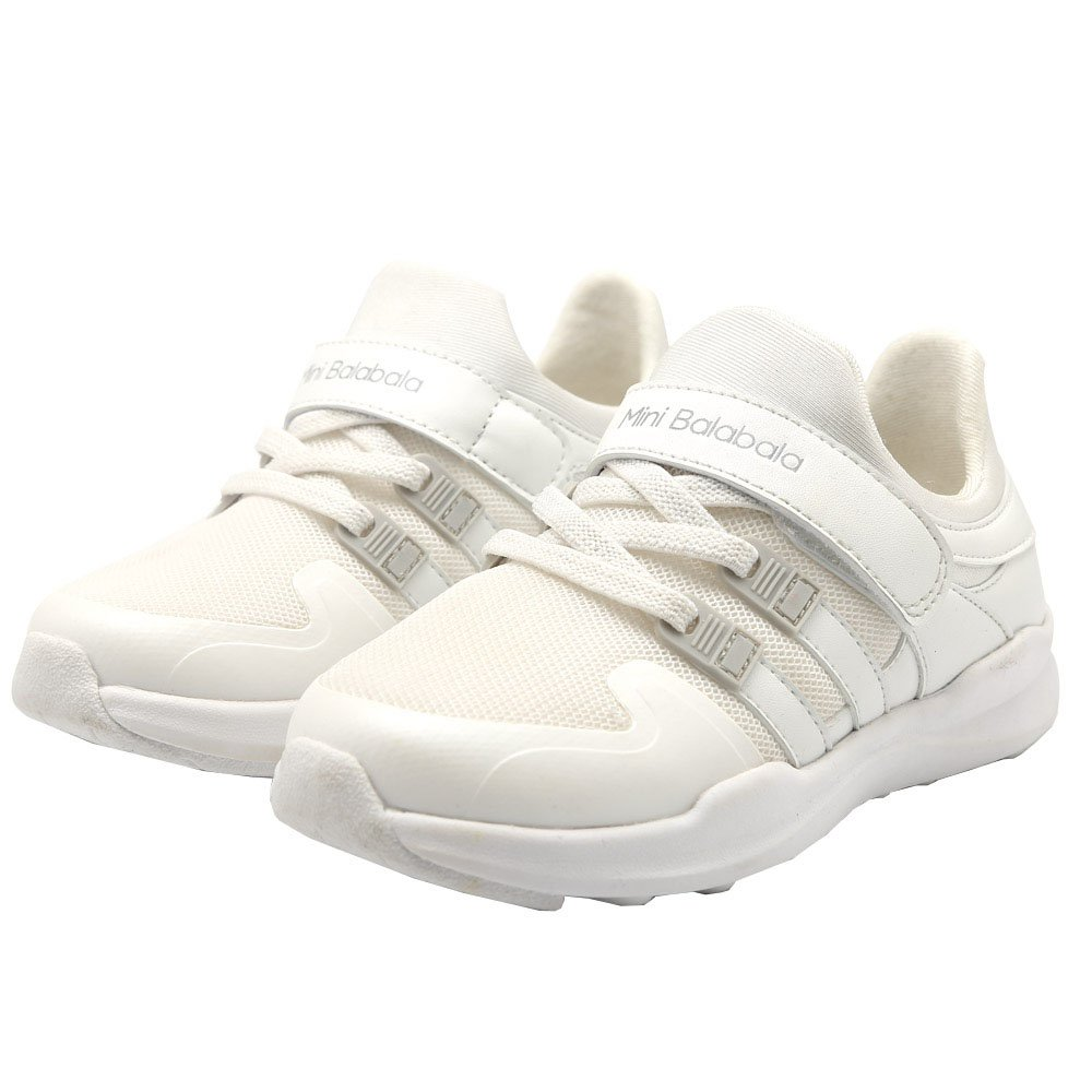 Kids School Sports Shoes Big Boys Fashion Mesh Breathable Shoes All White Lightweight Sneakers Classic Leather House Casual Shoes for Big Girls Size 1