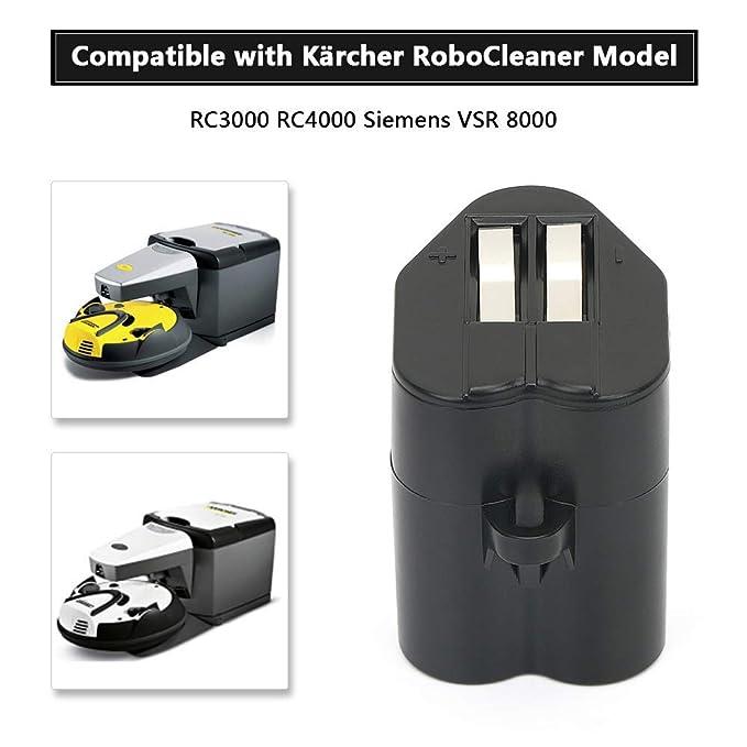 POWERGIANT Batería de repuesto 6V 2000mAh para Kärcher Robocleaner RC3000 RC4000 Siemens VSR 8000: Amazon.es: Bricolaje y herramientas
