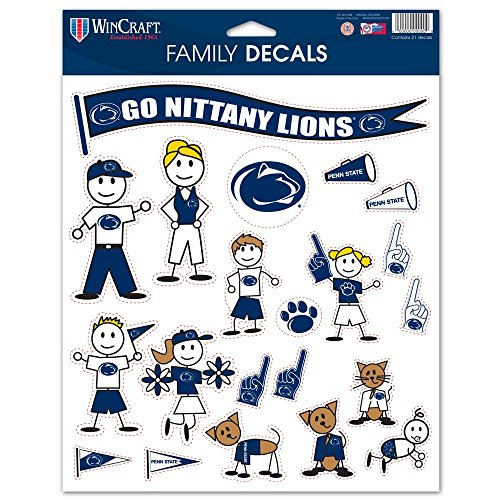 NCAA Penn State Nittany Lions Family Decal Sheet, 8.5 x 11-inches