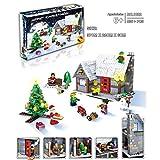 Christmas Building Blocks Set,YIFAN 936Pcs Christmas Village Plastic Building Blocks Set for Christmas Gift - Colorful