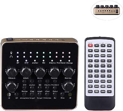 Amazon.com: KOKITEA Tarjeta de sonido en vivo, dispositivo ...