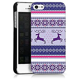 Carcasa Design Funda para Apple iPhone 5 HardCase black - Norwegermuster - Eisprinzessin