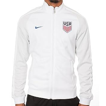 Nike N98 Estados Unidos Authentic Track Chaqueta de fútbol (Blanco) - 727913 100, White, Game Royal, Grey: Amazon.es: Deportes y aire libre