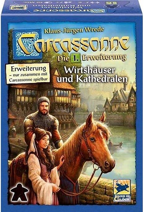 Asmodée Carcassonne ampliación 1 Wirtshäuser & Kathedralen Carcassonne 1 Wirtshäuser & Kathedrale: Amazon.es: Juguetes y juegos