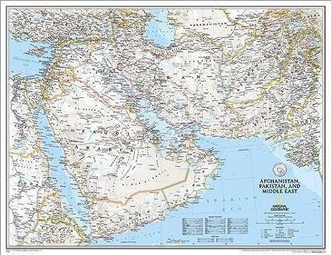 National Geographic Map Of China.Amazon Com National Geographic Re00620079 Map Of Afghanistan