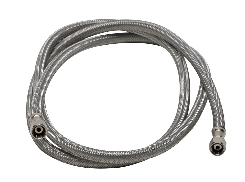 Fluidmaster 12IM60 Ice Maker Connector, Braided Stainless Steel - 1/4 Compression Thread x 1/4 Compression Thread, 5 Ft. (60-Inch) Length