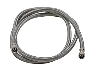 Fluidmaster 12IM96 Ice Maker Connector, Braided Stainless Steel - 1/4 Compression Thread x 1/4 Compression Thread, 8 Ft. (96-Inch) Length