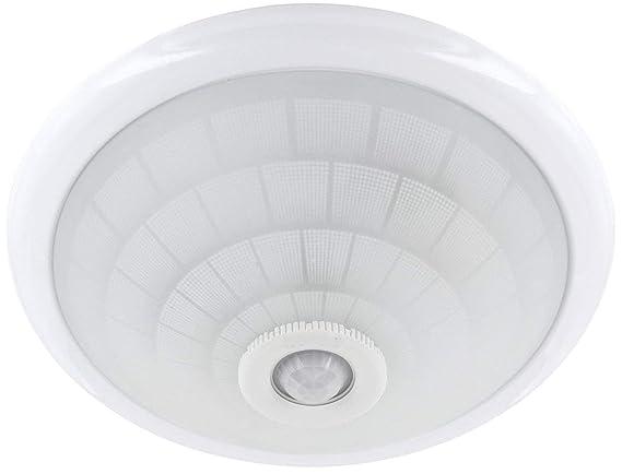 Plafoniera Esterno Con Crepuscolare : Lampada da soffitto e con ir rilevatore di movimento a °