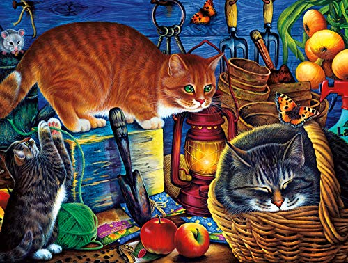 Buffalo Games - Cats Collection - Potting Shed Cats - 750 Piece Jigsaw Puzzle by Buffalo Games