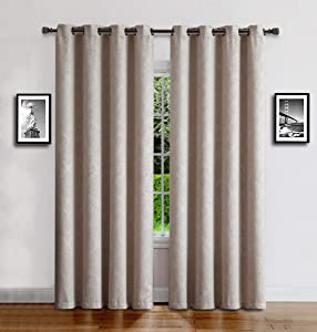 WARM HOME DESIGNS 1 Panel of Long Size Ivory Cream 54