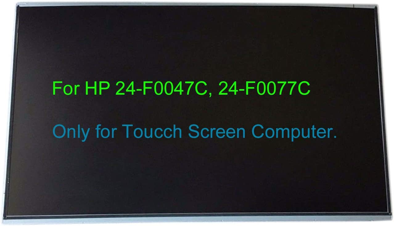 """23.8"""" Touch Screen Replacement LCD LED Display Repair Panel 1920x1080 FHD for HP Pavilion AIO 24-F0047C 24-F0077C (Check Model on The Back or on The Stand of The AIO Computer) (Only for Touchscreen)"""