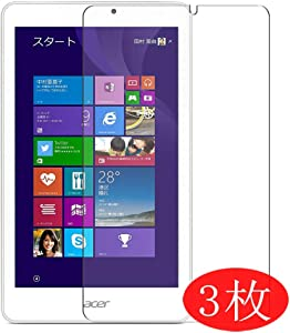 """【3 Pack】 Synvy Screen Protector for acer W1-811 iconia Tab 8W 8"""" TPU Flexible HD Film Protective Protectors [Not Tempered Glass]"""