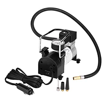 Amazon.es: Qiilu Compresor de aire eléctrico portátil de la bomba del inflador del neumático con Indicador de presión 100 PSI para Car Bike Ball