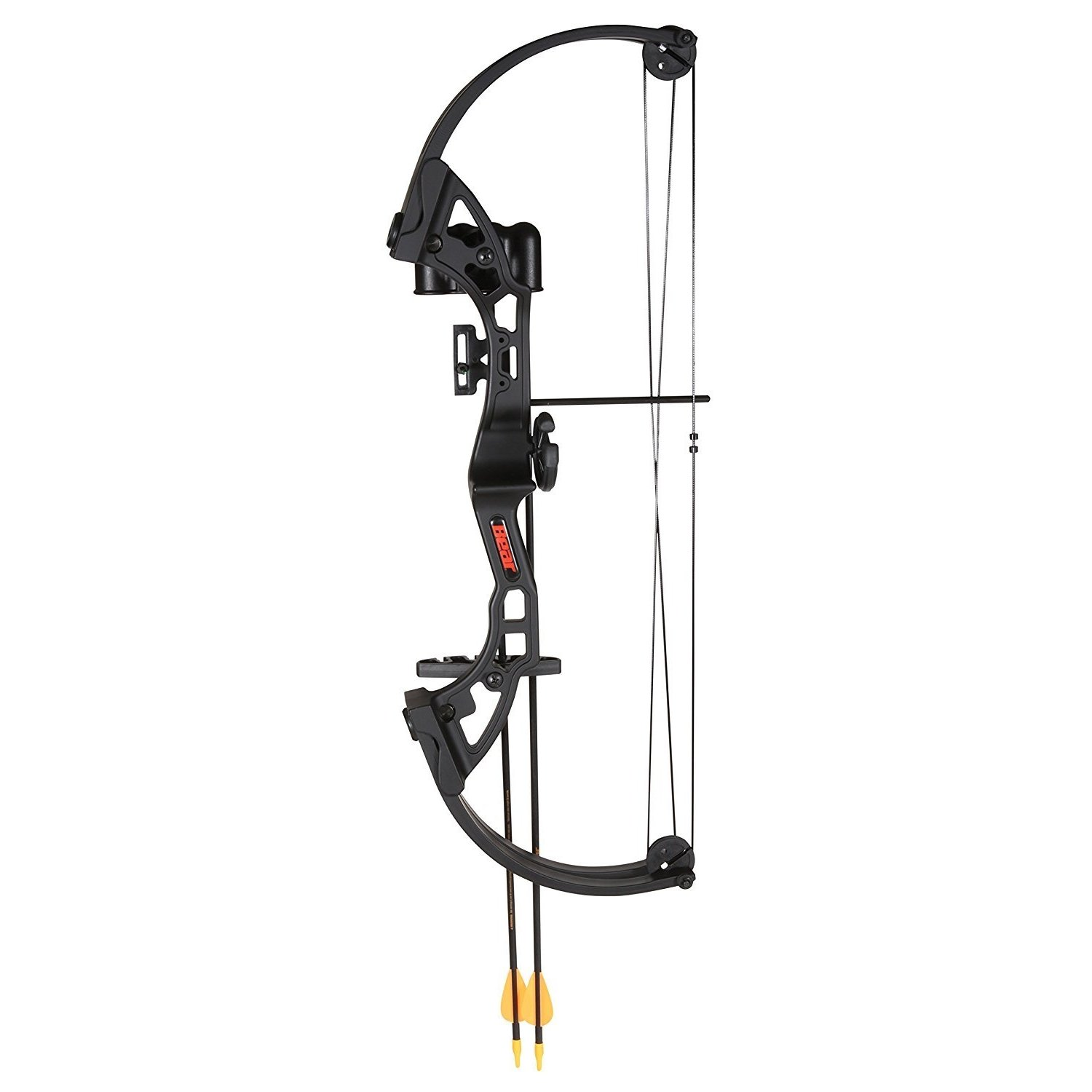 By-Ear Archery Compound Bow Set, Youth Girls Boys Practice Kids Compound Bow, Black