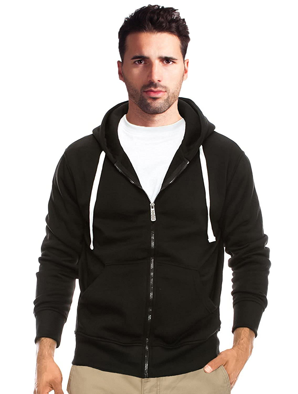 True Rock Men's Basic Full Zip Hoodie-Black durable service