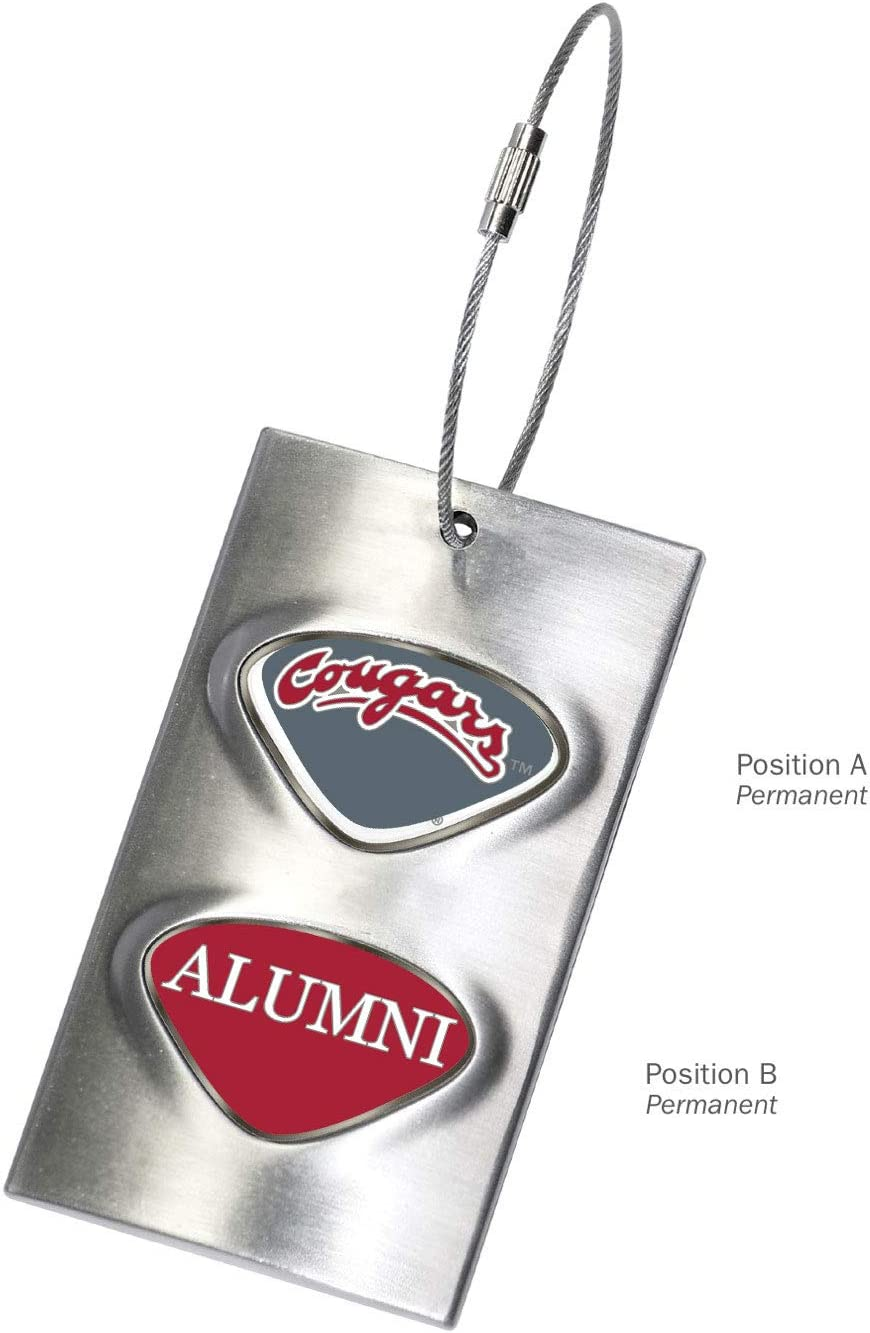 Silver AdSpec NCAA Washington State Cougars Collegiate Luggage TagCollegiate Luggage Tag One Size