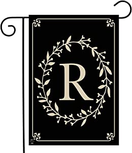 "Briarwood Lane Classic Monogram Letter R Garden Flag Everyday 12.5"" x 18"""