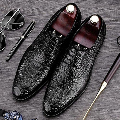 Herren Lederschuhe Herren Business Formal Wear Lederschuhe Spitze spitzen Herrenschuhe Herrenschuhe ( Farbe : Schwarz , größe : EU40/UK6.5 ) Schwarz
