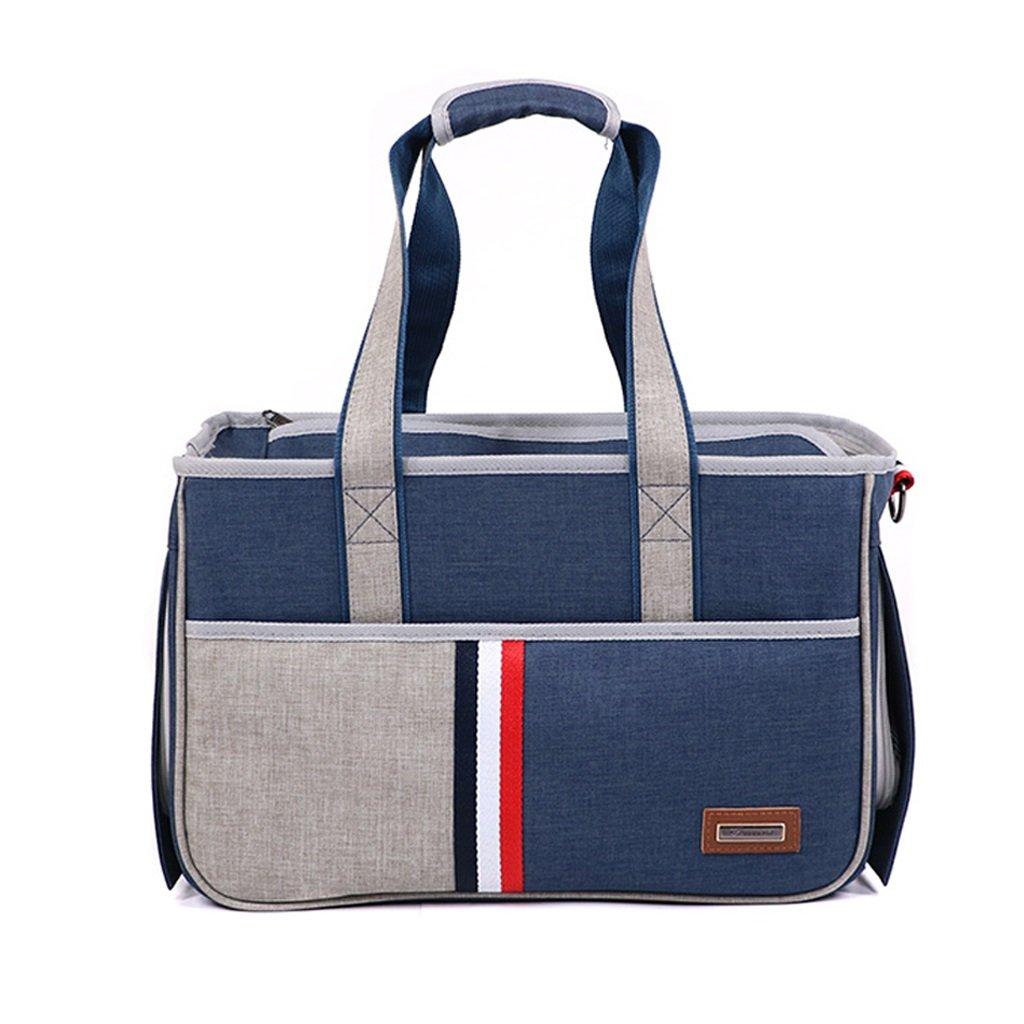 Pet Borsa da Viaggio Viaggio Viaggio Viaggio Portatile Pet Carrier Zaino Outdoor Picnic Viaggi Single Shoulder Bag Carrier Escursionismo Mesh Confortevole Borsa Blu Traspirante (Dimensioni   L.) dc7cbb