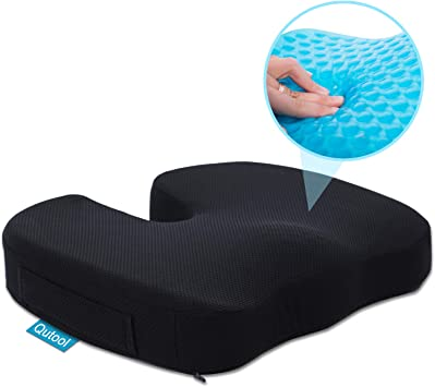 Airplane Seats Suitable for Wheelchairs Sciatic Pain Sitting Cushion Chair Cushion for Back Pain Traveling Ergonomic Seat Cushion for Office Chair That Protects Your Coccyx//Tailbone