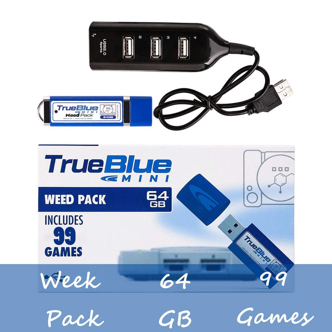 FenglinTech True Blue Mini Weed Pack for Playstation Classic