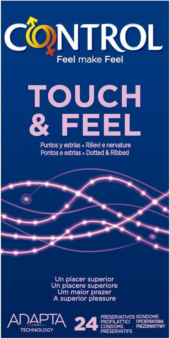 61C0U5QIjYL._AC_SL1200_ Control Sensual Dot&lines Preservativos - Caja de Condones con Puntos y Estrías, 24 Unidades (Pack Ahorro):: Salud y cuidado personal