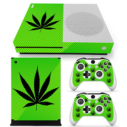 FriendlyTomato Xbox One S Console and Wireless Controller Skin Set - Weed 420 - XboxOne S Vinyl