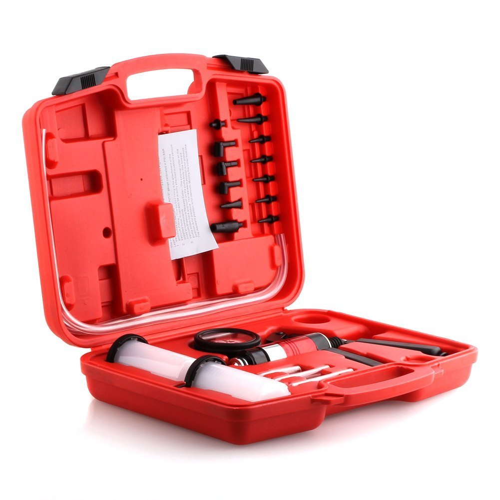 Amzdeal Vacuum Pump Pressure Tester Brake Bleeder Pressure Pump//Systems Car Vehicles 22 Pieces