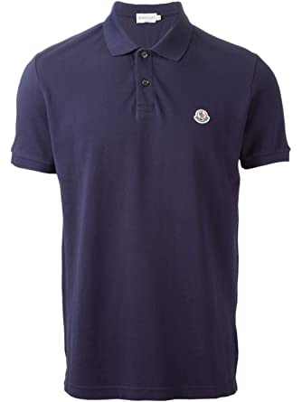 fd340d72a Moncler Mens Navy Short Sleeves Cotton Pique Classic Polo T-Shirt (M):  Amazon.co.uk: Clothing