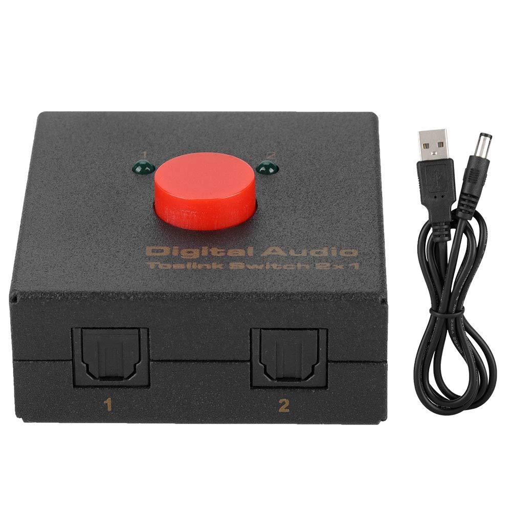 Amazon.com: Conmutador de señal de audio digital 2 en 1 con ...