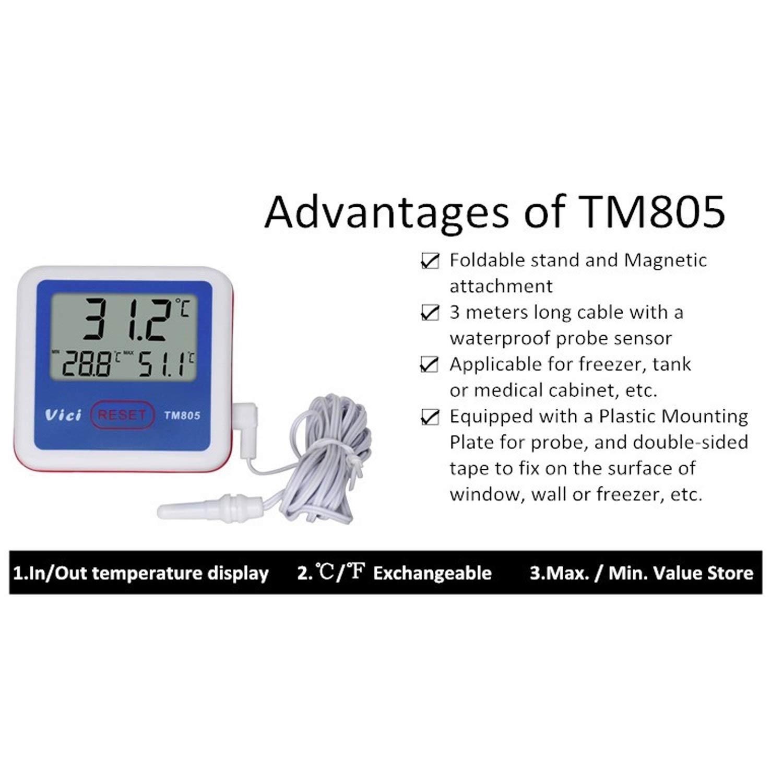 YYB-meter Probador Digital, Termómetro TM805 Refrigerador ...